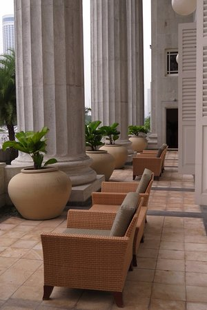 Shared veranda - no privacy - Picture of The Fullerton Hotel ...