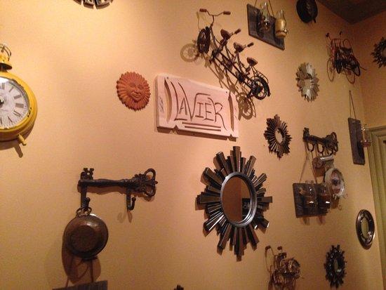 The walls inside LaVier Cuisine in San Rafael.