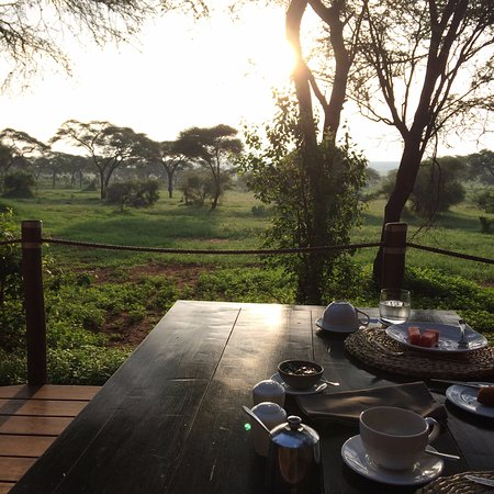 Sanctuary Swala: Breakfast view from dining area. Stunning!