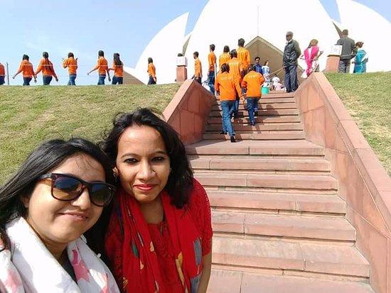 Bahai Lotus Temple: Steps leading to the Lotus temple