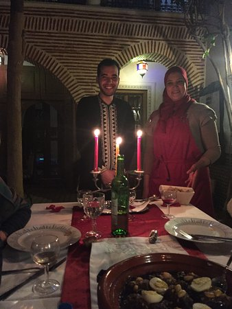 Hicham And Latifa Serving Dinner At The Riad Picture Of Riad Fleur