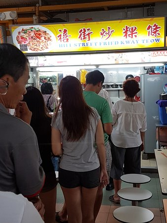 Hill Street Fried Kway Teow : THE LINE UP