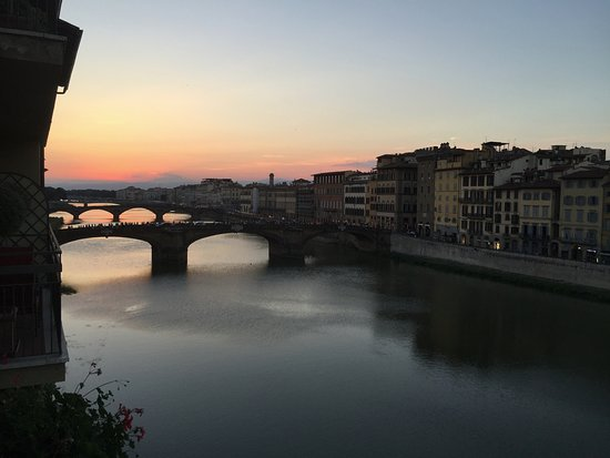 Hotel Lungarno : View of Arno River from Presidential Suite