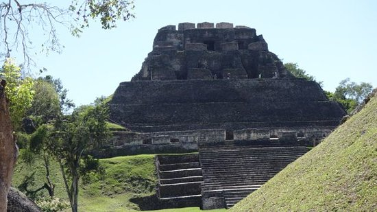 Cahal Pech Mayan Ruins & Museum: The main temple