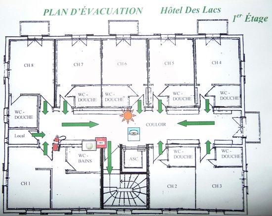Lacs Hotel: 1st floor, floor plan