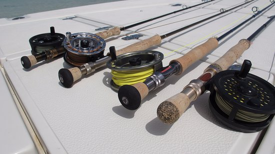 North Caicos: Ideal gear for bonefishing - 8WT fast action