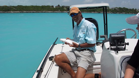 North Caicos: Not the biggest...but beautiful water and a great day on Bottle Creek