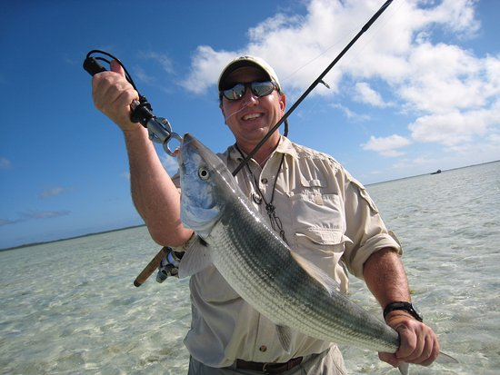 North Caicos: Double figure bonefish landed in the Turks and Caicos