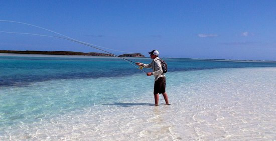 Just beautiful bonefish territory - wading on the flats of Bottle Creek on North Caicos