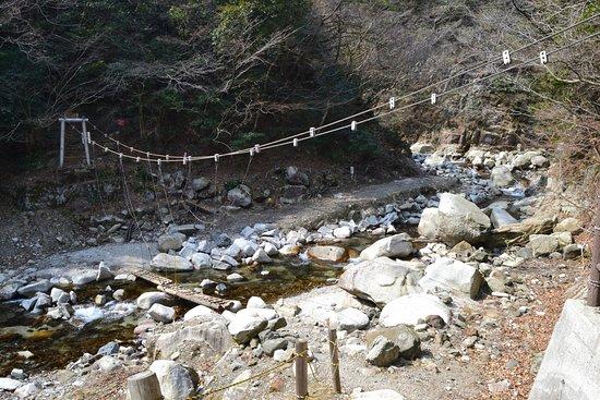 Inabe, Japan: 目印となる丸太橋