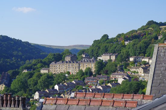 Hebden Bridge, UK: View from attic room