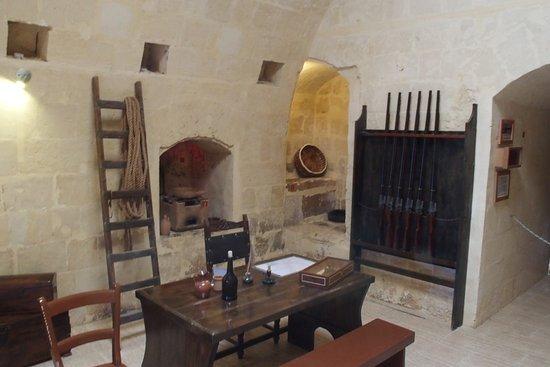 St. Paul's Bay, Μάλτα: 1er étage : Pièce de vie des gardiens de l'époque