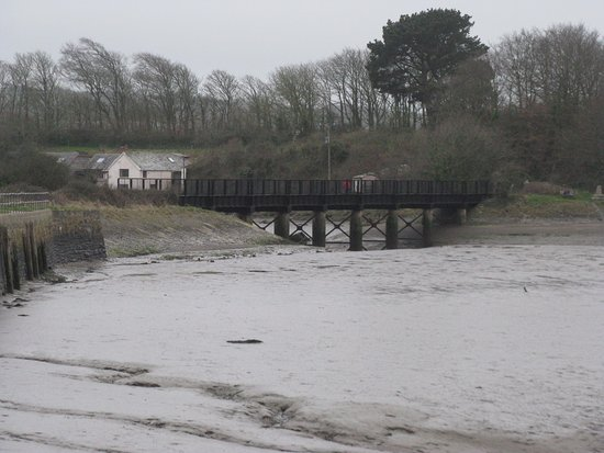 Devon, UK: The old railway bridge at Fremington Quay