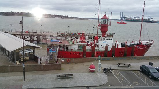 The Pier Hotel at Harwich: View from window room 1