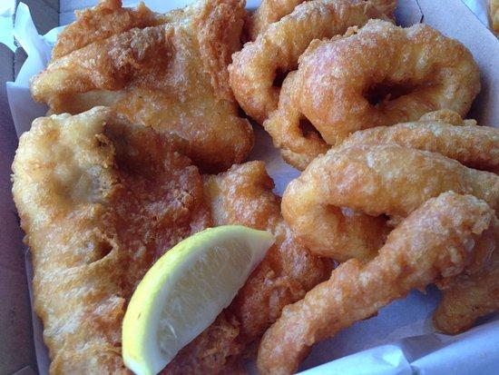 City Beach, Australia: Fish $21.00 & Squid Rings $8.50