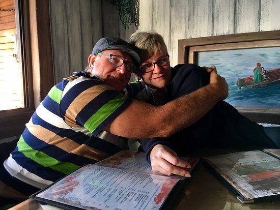 Lamberts Bay, Южная Африка: Wow! ñ Awesome restaurant,  Heerlike kos, Lekker musiek, Maatjie is ñ baie oulike waiter wat ñ p