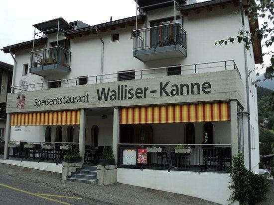 Fiesch in Valais, Switzerland: Restaurant Walliser Kanne