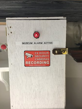 Sea Glass Museum: Groovy alarm system.