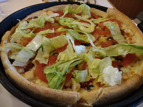 Meridian, ID: Chicken Taco Pizza (without the onions & tortilla strips)