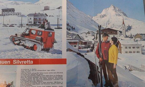 Alpinarium Galtür: old tourist leaflets