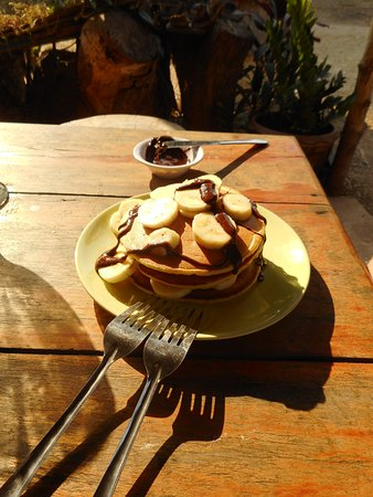 Don Det, Laos: Pancakes with fruit and choc - yum!
