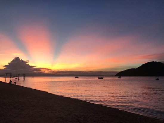 Cape Maclear, Malaui: Sunset from Thumbi View