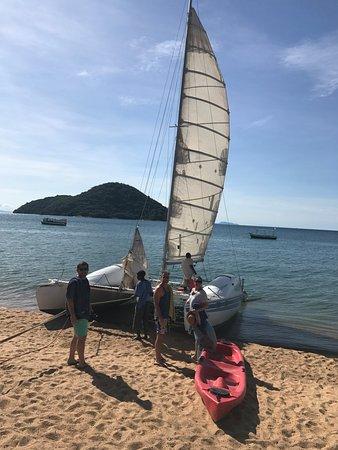 Cape Maclear, Μαλάουι: Sunset cruise on the catamaran