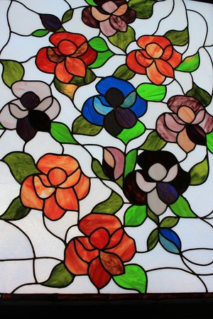 Stained Glass Quot Violets Quot Picture Of The National Quilt