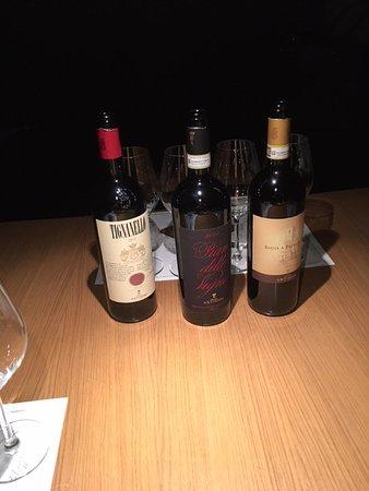 San Casciano in Val di Pesa, Italy: Vini rossi della degustazione
