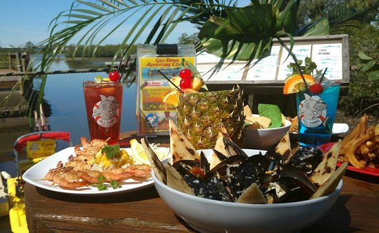 Port Richey, FL: Gill Dawg is a great place for good food, music and watersports fun