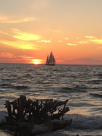 "Catherine's Florida Charters: Sunset photo of the ""Catherine"" taken from Longboat Key"