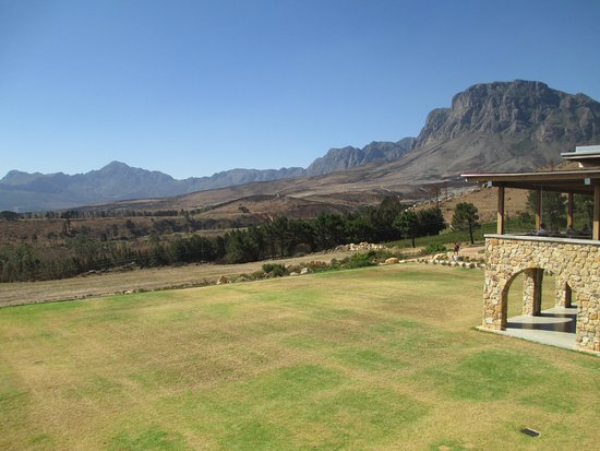 Sir Lowry's Pass, Sydafrika: View from the restaurant.