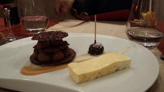 Touques, Francia: Chocolat Bailey's et parfait glacé passion et poivre sauvage