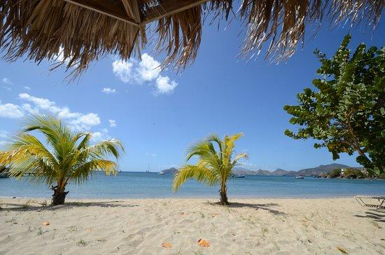 New Castle, Nevis: View from Oualie Beach Restaurant terrace