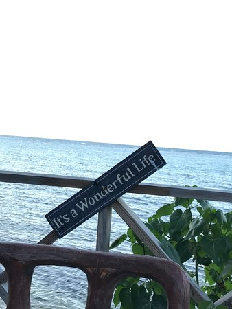 Hopewell, Jamaica: A view from our table. Why yes it is a wonderful life!