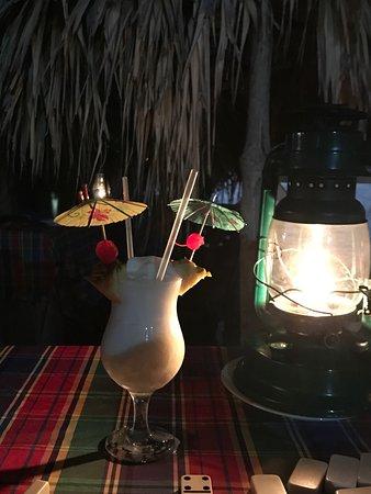 Hopewell, Jamaica: Pina coladas for dessert! :)