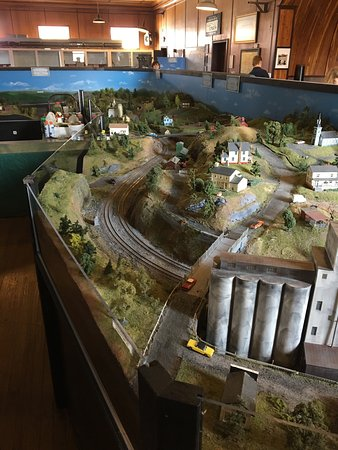 As part of the museum on the third floor is the Brunswick Railroad Museum with an operating HO t