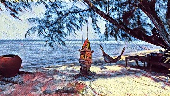 Lipa Noi, Thailand: Beach view in artistic fashion.