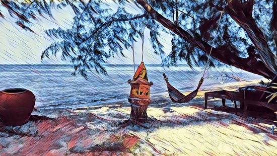 Lipa Noi, Tailandia: Beach view in artistic fashion.