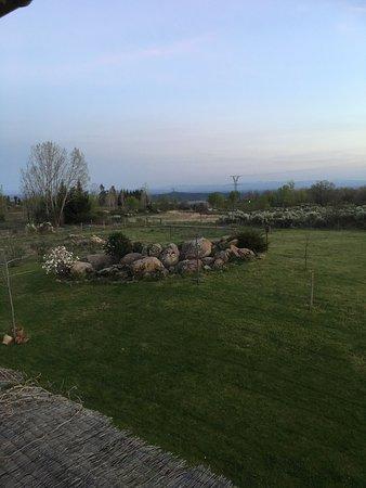 Villanueva de la Vera, Spagna: El excelente desayuno y las vistas al campo desde nuestra habitación ... ideal.