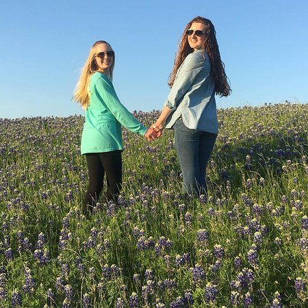 Ennis, TX: Rachel & Morgan in the Bluebonnets at South bound 45 at exit 250 off service road, not off highw