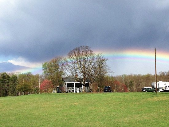 Small Country Campground: Rainbow over our historic Manor House