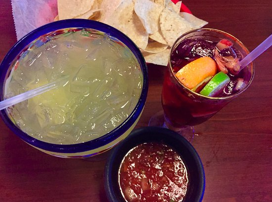 Chicano's: Salsa is the best anywhere with great drinks.