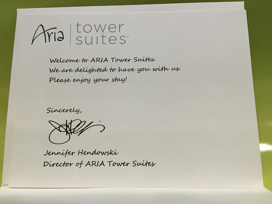 Thank You Card Picture Of Aria Resort Casino Las Vegas
