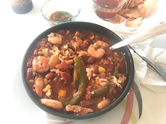 Tropicante Ameri-Mex Grill: Shrimp and Chicken Jambalaya