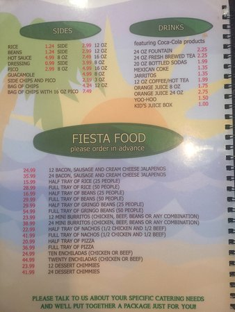 Wellsburg, Virginia Occidental: Here is their current menu.