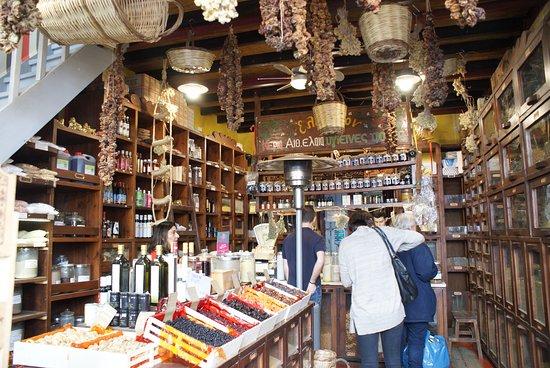 Attica, Greece: Magasin d'épices