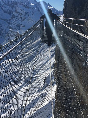 Mürren, Suiza: Thrill Walk Felsensteg Birg