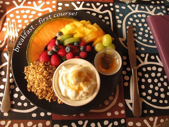 Darling, South Africa: breakfast - first course!