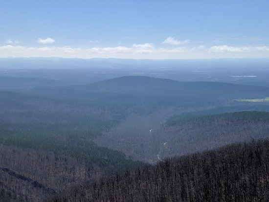 Queen Wilhelmina State Park: Photo from trail overlook